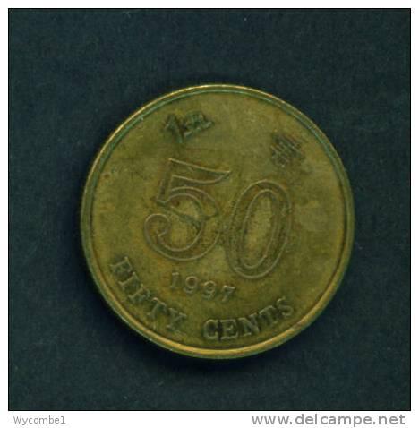 HONG KONG  -  1997  50 Cents  Circulated As Scan - Hong Kong