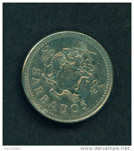 BARBADOS  -  2004  25 Cents  Circulated As Scan - Barbades