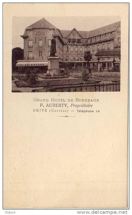 Grand Hôtel De BORDEAUX P. AUBERTY Propriétaire BRIVE TBE - Brive La Gaillarde