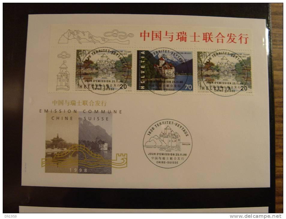 EMISSION COMMUNE JOINT ISSUE Env. 61 Doc. SUISSE CHINE RUSSIE SINGAPOUR THAILANDE ETATS UNIS BELGIQUE - Joint Issues