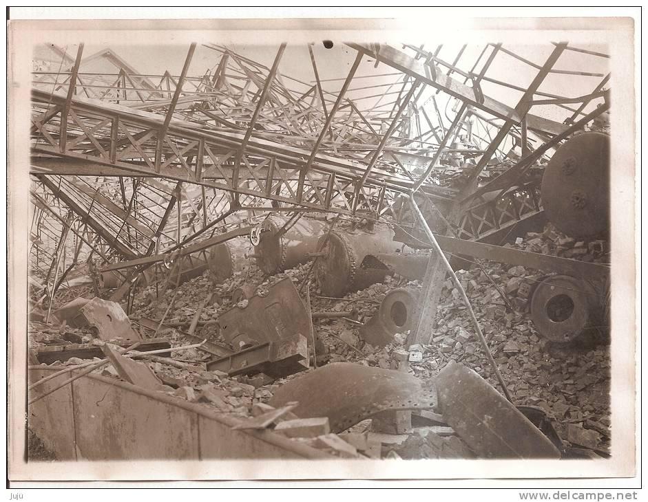 Photo Originale (17x13) Des Ruines De La Grande Guerre, Mines D´Aniche - Fotografia