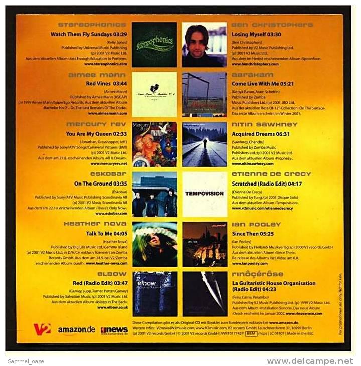 Musik CD  -  V2 S Best Of Electronic Pop Alternative Album Releases  -  Von 2001 - Sonstige - Englische Musik
