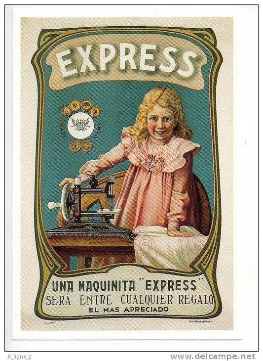 Ref 103  :  CPM Pub Espagnole Espagne Machine à Coudre EXPRESS Type Singer - Publicité
