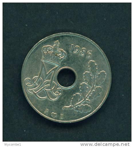 DENMARK  -  1986  25 Ore  Circulated As Scan - Denmark