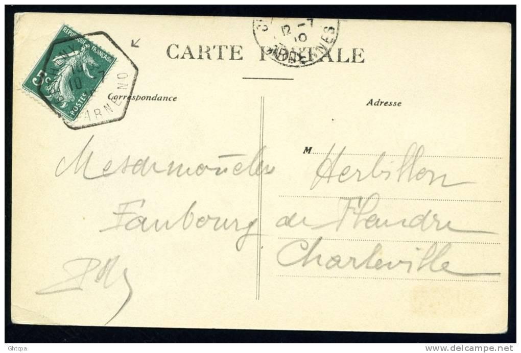 CPA. DEUXIEME SEMAINE D´AVIATION DE CHAMPAGNE 4 Juillet 1910. Olieslagers S'arrête. Weymann S'éloigne. - Meetings