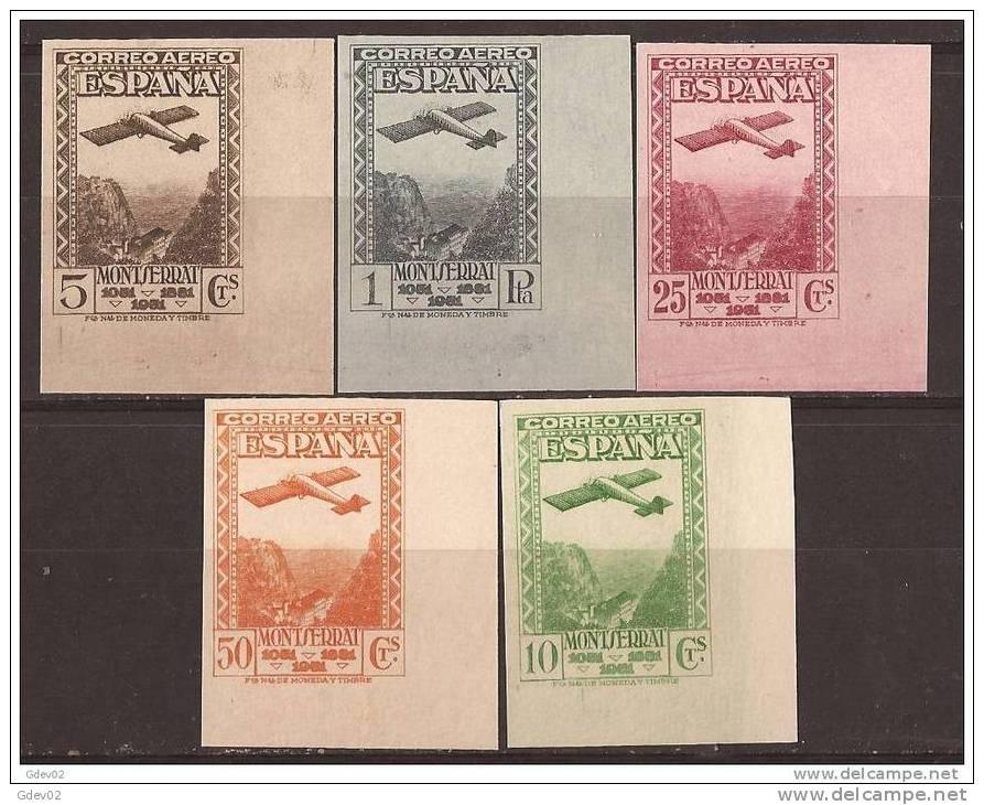 ES650-L2121TSC.Spain.Espagne.Monasterio De  MONTSERRAT AEREA .Avion. Montañas.1931.(Ed.650/4sd *)con Charnela .LUJO - Sin Clasificación