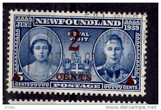 Newfoundland 1939 2 Cent Royal Visit Overprint Issue #250 - Newfoundland
