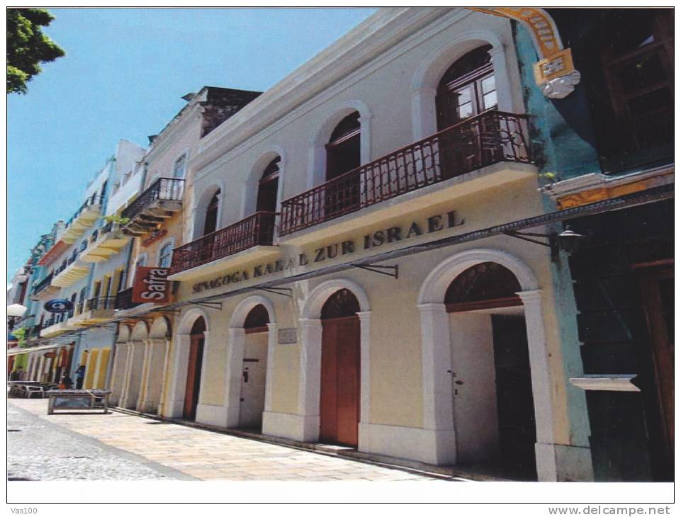 SYNAGOGUE,RECIFE, POSTCARD BRESIL. - Recife