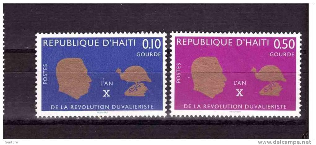 1967 HAITI  Duvalierist Revolution  Yvert Cat.  N° 585/87 Perfect MNH ** - Haiti