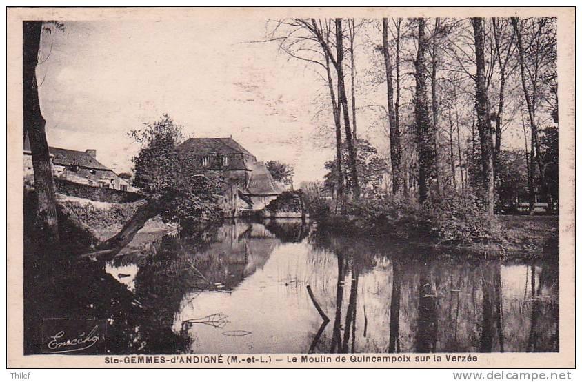 Ste-Gemmes-d'Andigné 1: Le Moulin De Quincampoix Sur La Verzée - France