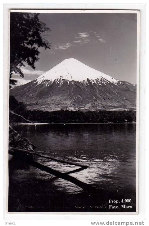 AMERICA CHILE SANTIAGO THE LAKE NAD THE MOUNTAIN OLD POSTCARD - Chile