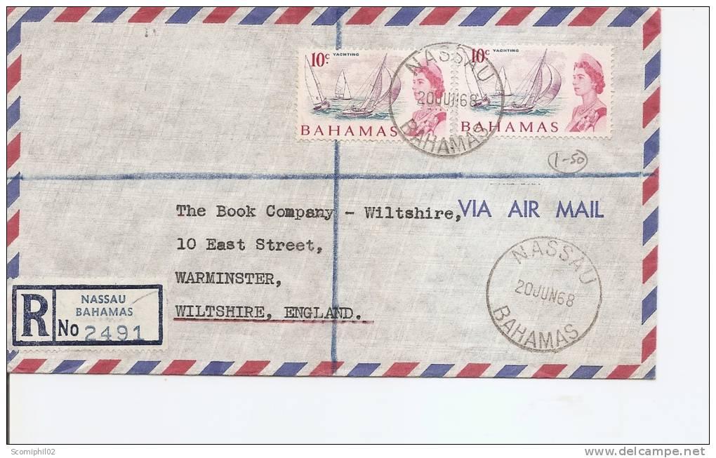 Bahamas -Bateaux ( Lettre En Recommandé De 1968 Vers La Grande-Bretagne à Voir) - 1963-1973 Autonomia Interna