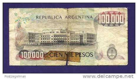 ARGENTINA 1979, Banknote, USED GOOD,  100.000 Pesos (dirty And Torn And Sello-taped) Km308 - Argentina