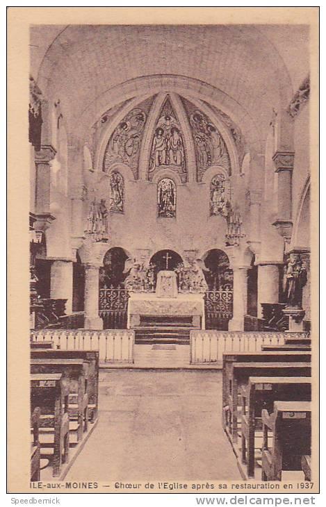 21478 -ile Moines -56 - Choeur Eglise Après Restauration En 1937 -sans éd - Ile Aux Moines