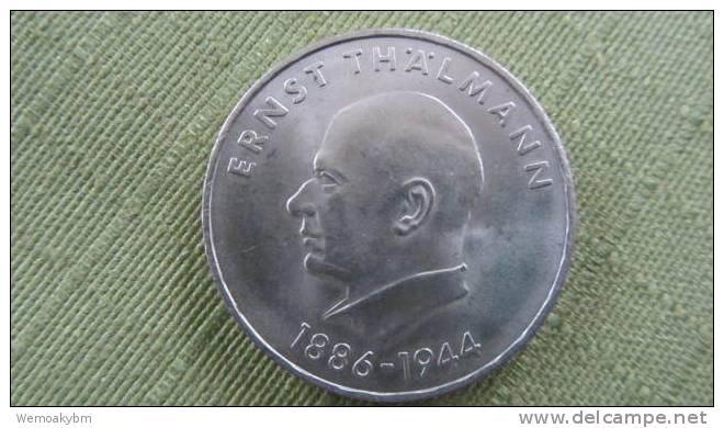 """DDR Sondermünze  """"Ernst Thälmann 1886 - 1944""""  20 Mark  1971 - [ 6] 1949-1990: DDR"""