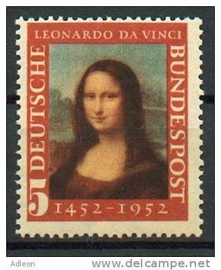 RFA - Joconde YT 34** 2 Types / Bund - Mona Lisa Mi. Nr. 148 Type I + II** - BRD