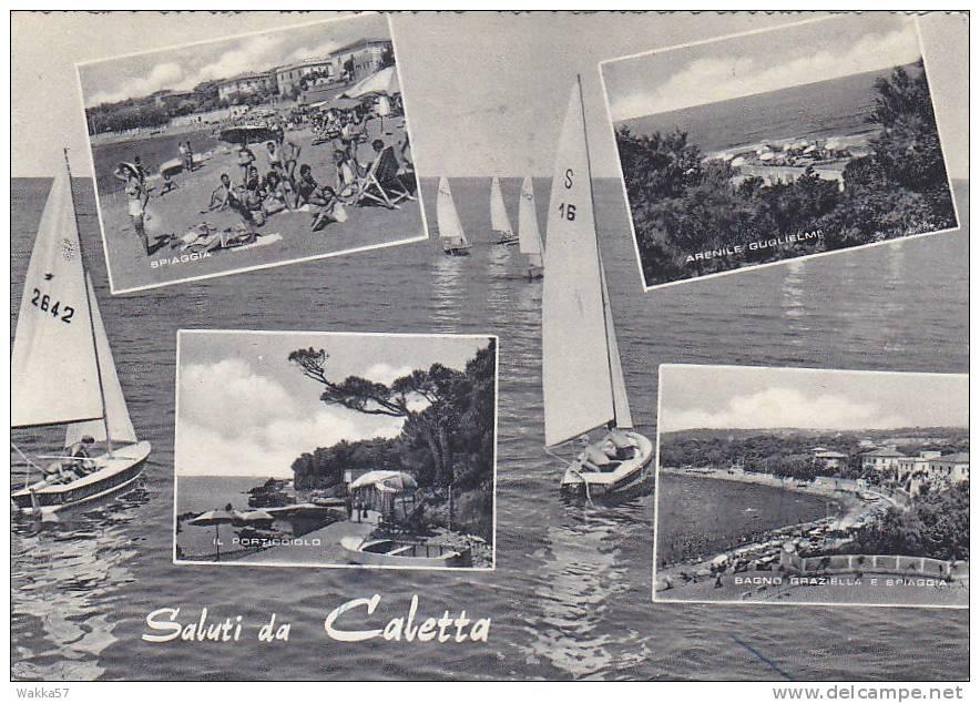 E289- Saluti Da Caletta - Livorno - F.g.  Viaggiata - Livorno