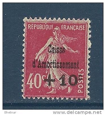 "FR YT 266 "" Caisse Amortissement +10c. Sur 40c. Semeuse Rose "" 1930 Neuf** - Cassa Di Ammortamento"