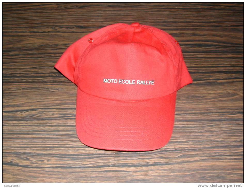 Casquette Rouge Red Cap MOTO ECOLE RALLYE - Casquettes & Bobs