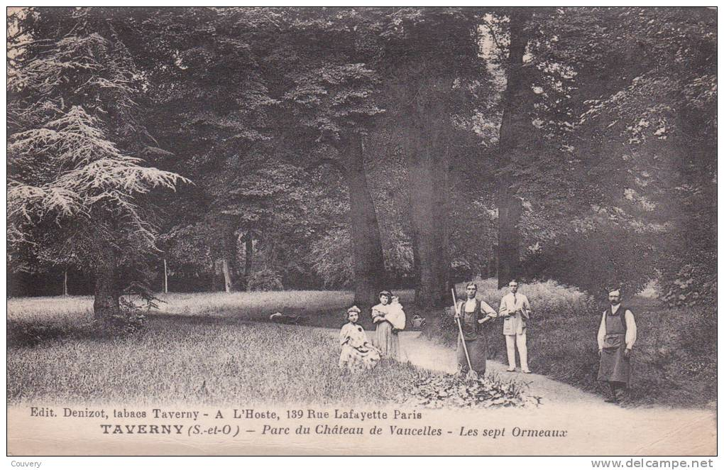 CPA 95 TAVERNY ,le Château De Vaucelles. Les Sept Ormeaux. (animée) - Taverny