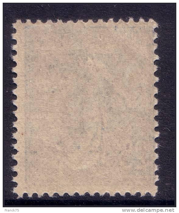 25c Semeuse Lignée Bleu Foncé Neuf * TB (Y&T N° 132a, Cote 110€) - 1903-60 Semeuse Lignée