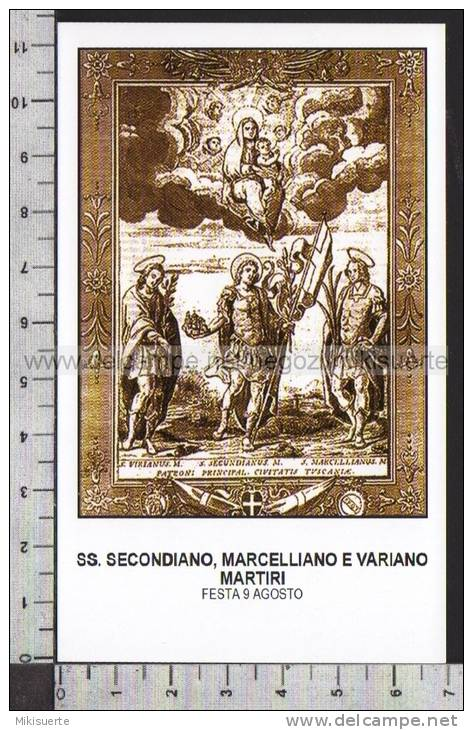 Xsa-10362 SS. SECONDIANO MARCELLIANO E VARIANO MARTIRI CIVITAVECCHIA TUSCANIA Santino Holy Card - Religion & Esotérisme