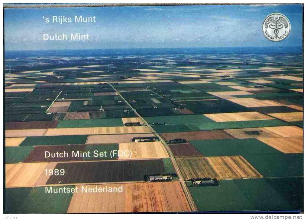 Pays-Bas Netherland Coffret Officiel BU 5 Cent à 5 Gulden Et Jeton 1989 KM SS24 - [ 9] Mint Sets & Proof Sets