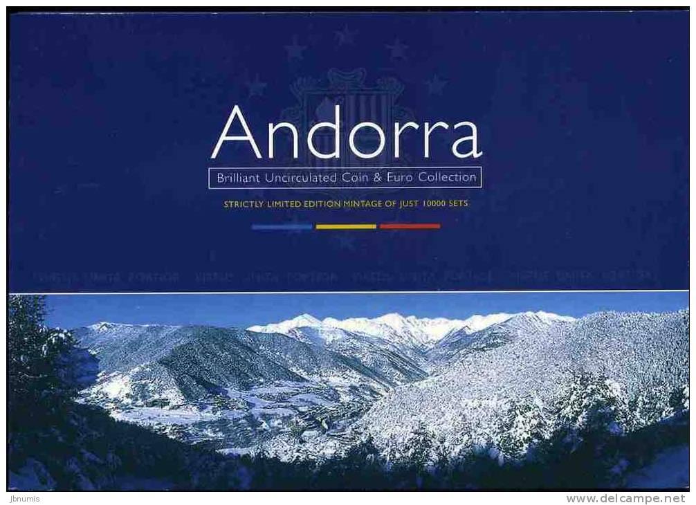 Andorre Andorra Coffret Officiel BU 1 à 10 Centims 2002 + 1 Euro France Et Espagne - Andorre