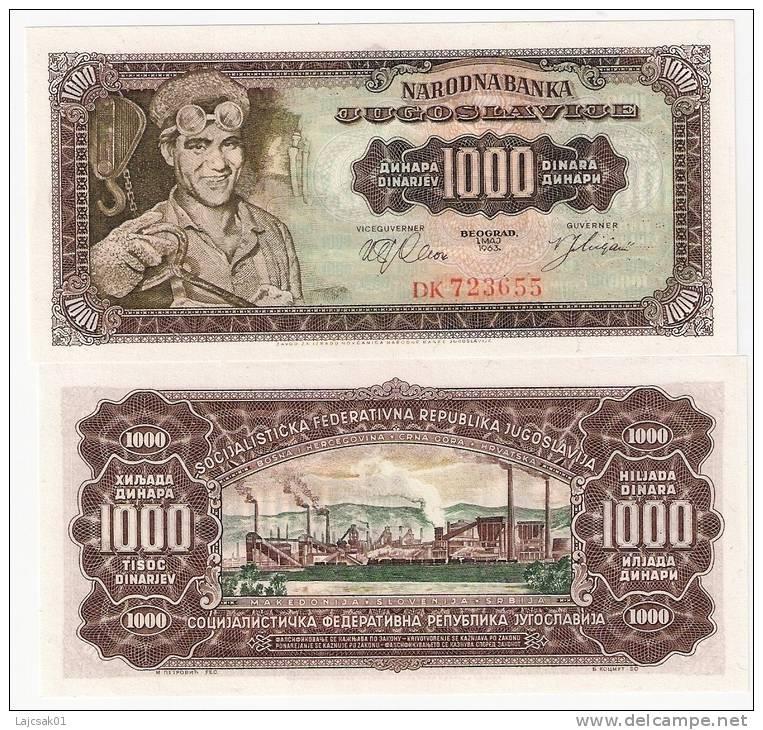 Yugoslavia 1000 Dinara 1963. UNC P-75 - Yougoslavie