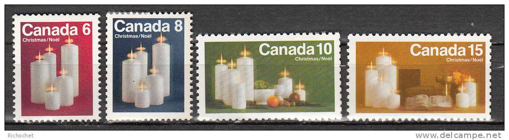 Canada 489 à 492 ** - 1952-.... Regno Di Elizabeth II