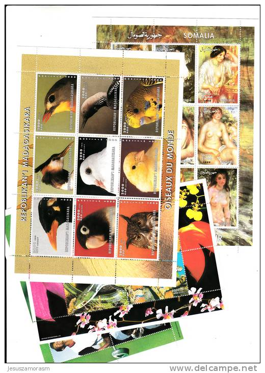 50 Hojas Bloques Diferentes Nuevas , Madagascar , Guinea  , Somalia, Tchad ,santo Tome - Sellos