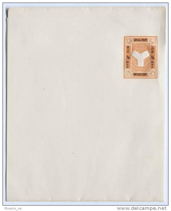 China -  SHANGHAI, Local Post Envelope, Colonial Post ( 2 ) - China