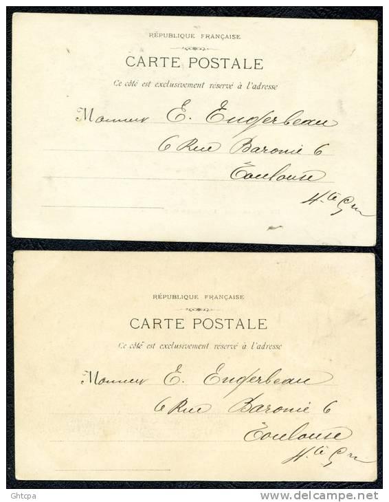 LOT De 2 CPA.  MARSEILLE. L´Arrivée Du Poisson.  // Sur Le Port. Une Dispute. - Vieux Port, Saint Victor, Le Panier