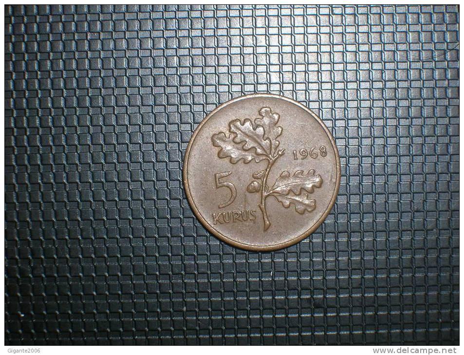 Turquia 5  Kurus 1968 (4838) - Turquia