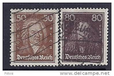 Allemagne Empire YT 388 (Bach) Et 389 (Durer) Oblitérés - Allemagne