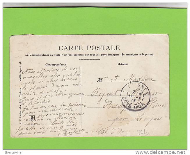 CPA -  89 - NUITS SOUS RAVIERES  - Carte Fantaisie  -Souvenir De Ma Villégiature à Nuits Sous Ravières - Autres Communes