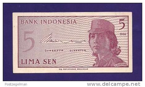 INDONESIA 1964, Banknote,  UNC, 5  Sen - Indonesia