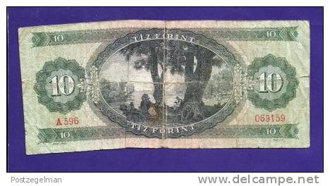 HUNGARY 1969, Banknote,  USED GOOD, 10 Forint Km 161 - Hungary