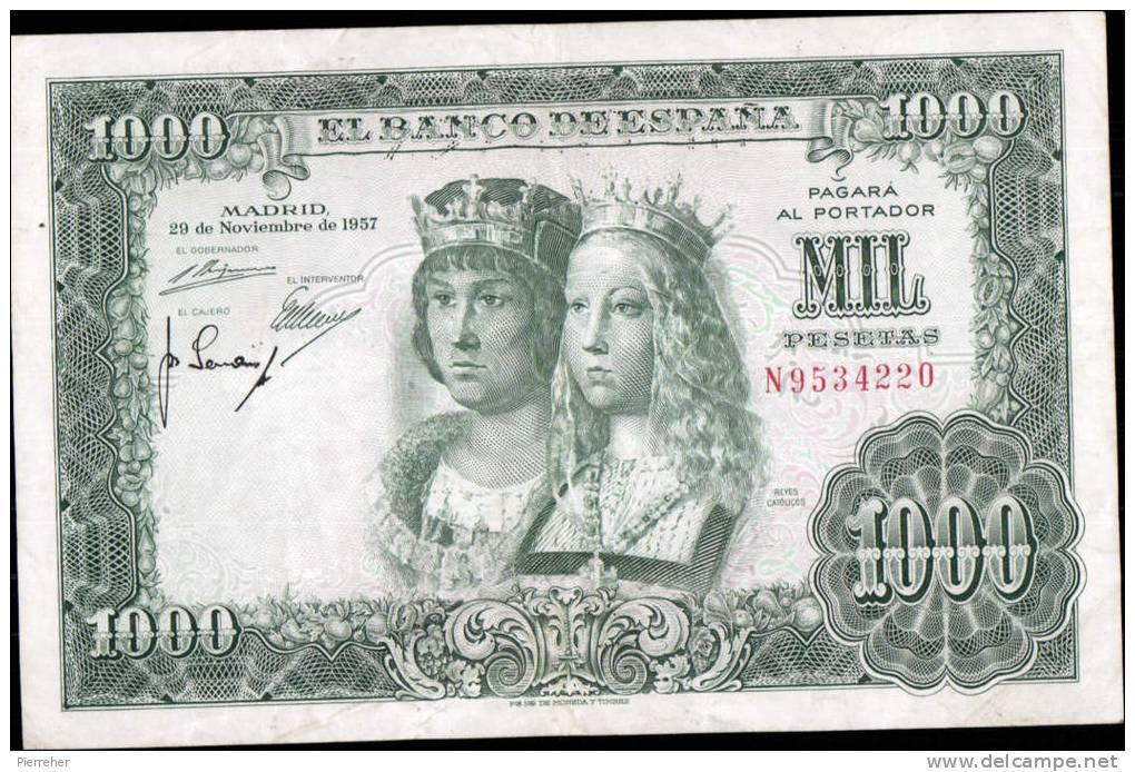 TRES TRES BEAU BILLET DE MILLE PESETAS DATE DU 29.11.1957 - [ 3] 1936-1975: Regime Van Franco