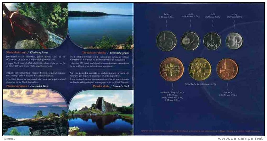 Slovaquie Slovakia 50 Helaru à 10 Korun 2007 Coffret Officiel BU + 50 Haleru à 50 Korun Czech Tchèque KM MS16 - Slovaquie