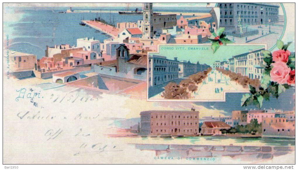 Bellissima Riproduzione Da Originale -   BARI  1903 - Bari