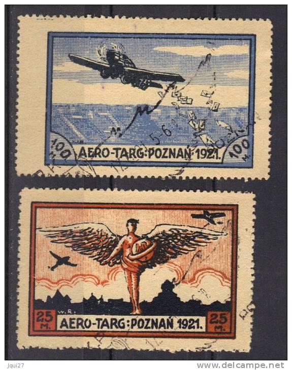 Pologne Vignettes Aero-Ta&rg Poznan 1921 - Varietà E Curiosità