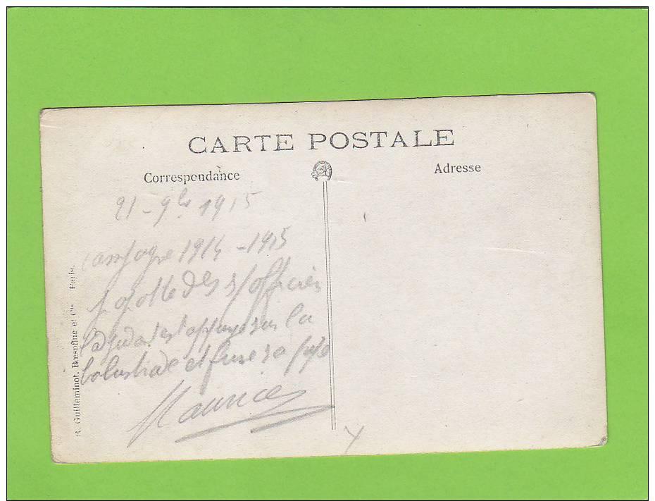 CPA Photo - 60 -  LIANCOURT - Popotte Des Sous Officiers - Campagne 1914-1915 - - Liancourt