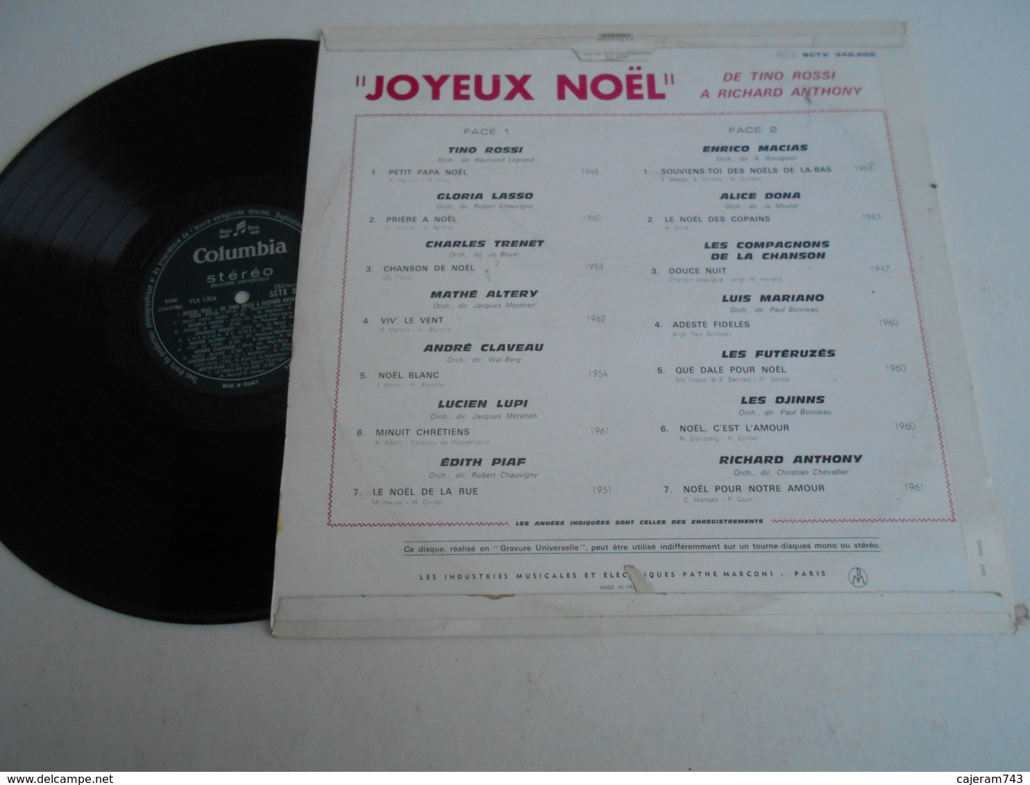 33T. JOYEUX NOEL De TINO ROSSI à RICHARD ANTHONY - Weihnachtslieder