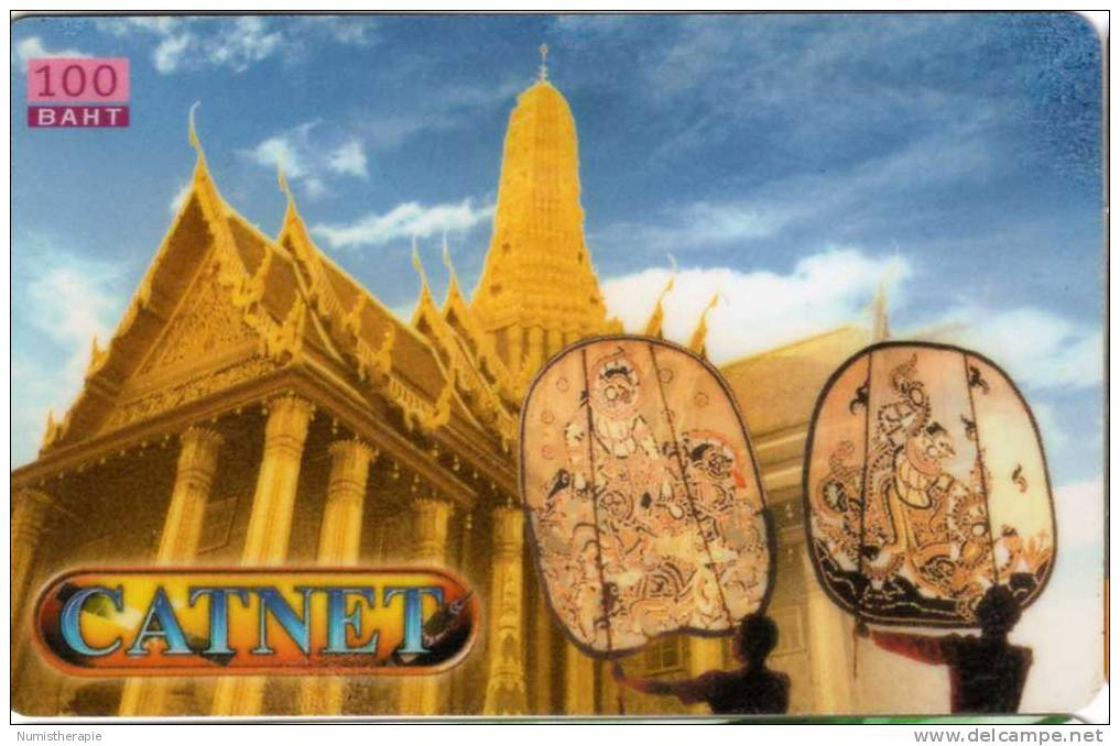 Télécarte Catnet : 100 Baht - Thaïlande