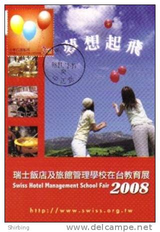 13a: Taiwan Ballon Celebration Party Birthday No4 Maximum Card Maxicard MC - Fêtes