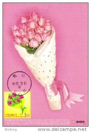 13a: Taiwan Love Flower Bouquet Celebration Wedding Birthday No2 Maximum Card Maxicard MC - Végétaux