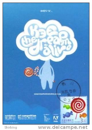 13a: Taiwan Children Lolipop Sweet Candy Food No2 Maximum Card Maxicard MC - Enfance & Jeunesse