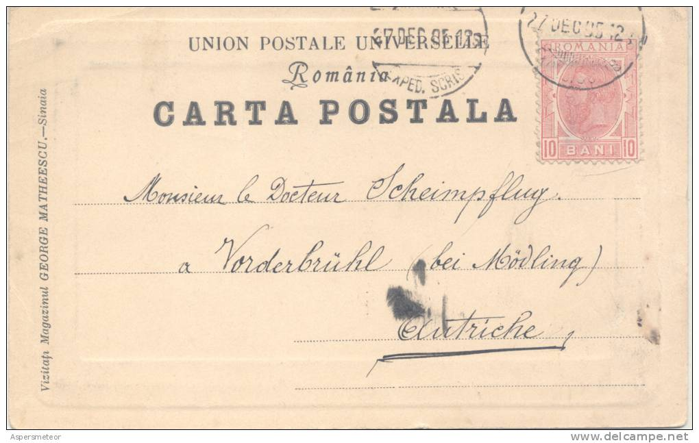 ANDRE LECOMTE DU NOUY (1844-1914) ARCHITECTE FRANCAIS AUTOGRAPHE AUTOGRAFO SUR CPA CIRCULEE 1905 RARE - Autographs