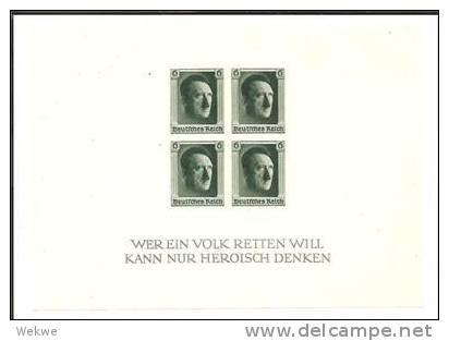 DSP133/ Block 8 (Marken Ungezähnt) 1. NAPOSTA 1937 ** - Deutschland
